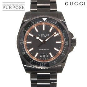 グッチ GUCCI ダイヴ YA136213 メンズ 腕時計 デイト ブラック 文字盤 クォーツ ウォッチ