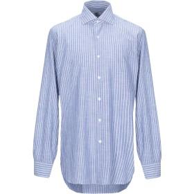 《期間限定セール開催中!》BARBA Napoli メンズ シャツ アジュールブルー 43 コットン 100%