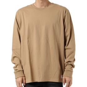 [ルーカ] ロングTシャツ BIG FLIP RVCA LS TEE メンズ ベージュ 日本 M (日本サイズM相当)