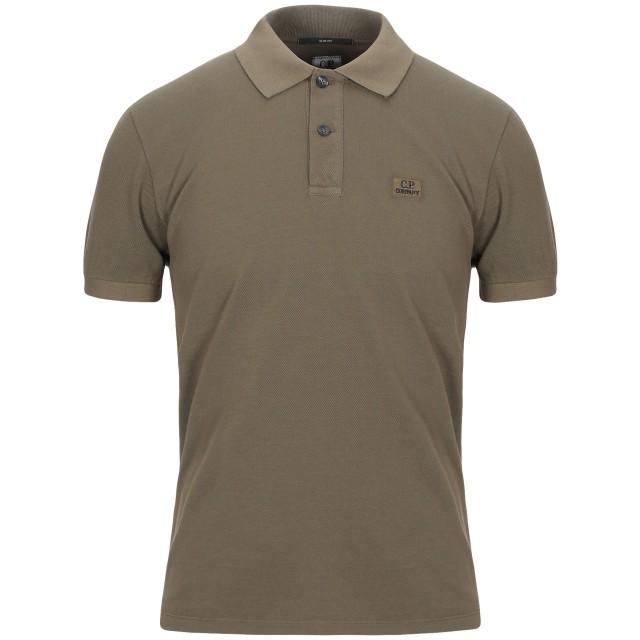 《期間限定セール開催中!》C.P. COMPANY メンズ ポロシャツ ミリタリーグリーン S コットン 100%