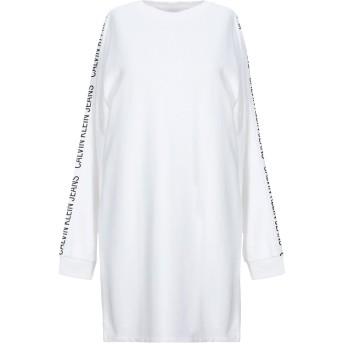 《セール開催中》CALVIN KLEIN JEANS レディース ミニワンピース&ドレス ホワイト XS コットン 100%