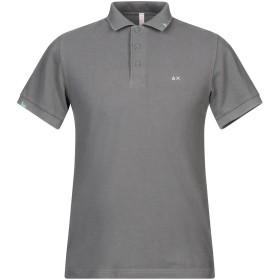 《セール開催中》SUN 68 メンズ ポロシャツ グレー M コットン 100%