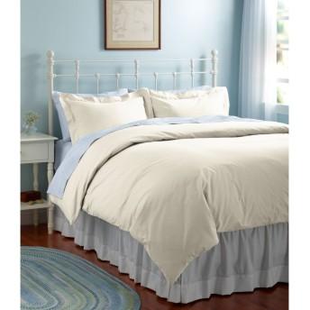 280スレッド・カウント・ピマ・コットン・パーケール・コンフォーター・カバー、無地/280-Thread-Count Pima Cotton Percale Comforter Cover, Solid