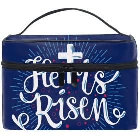 収納バッグ 化粧ポーチ レディース 多機能 大容量 防水ブルーヒーイズリゼン