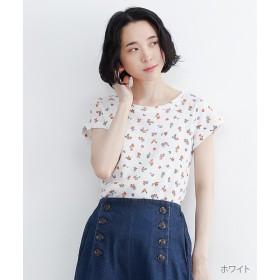 【40%OFF】 メルロー 花柄サーマルTシャツ レディース ホワイト FREE 【merlot】 【セール開催中】