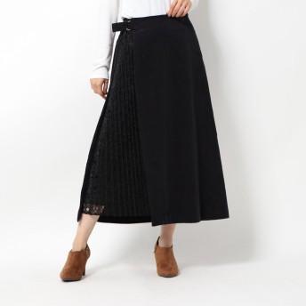コムサイズム COMME CA ISM コーデュロイスカート (ブラック)