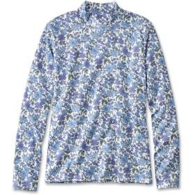 ピマ・コットン・シャツ、モック・タートルネック 長袖 プリント/Pima Cotton Shirt, Mock-Turtleneck Long-Sleeve Print