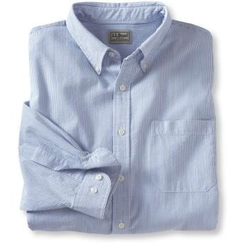 シアサッカー・シャツ、長袖 ストライプ/Men's Seersucker Shirt, Long Sleeve Stripe