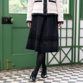 SALE【トゥー ビー シック(TO BE CHIC)】 【L】シャイニーグログランスカート ブラック
