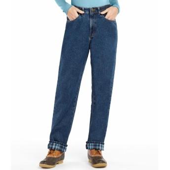 ダブル・エル・ジーンズ、コンフォート・ウエスト フランネルの裏地付き/Double L Jeans, Relaxed Comfort Waist Flannel-Lined