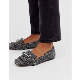 エイソス ASOS DESIGN レディース ローファー・オックスフォード シューズ・靴 medallion snaffle loafer flat shoes