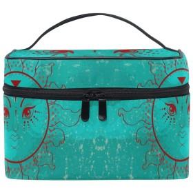 グリーンサン化粧品袋オーガナイザージッパー化粧バッグポーチトイレタリーケースガールレディース