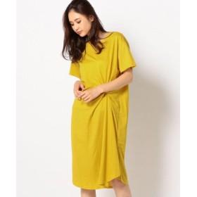 (MEW'S REFINED CLOTHES/ミューズ リファインド クローズ)前ねじりカットワンピース/レディース イエロー