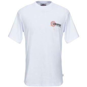 《セール開催中》GCDS メンズ T シャツ ホワイト S コットン 100%