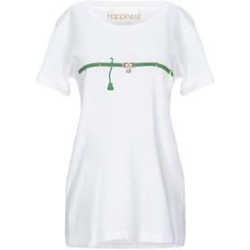 《セール開催中》HAPPINESS レディース T シャツ ホワイト XS コットン 100%