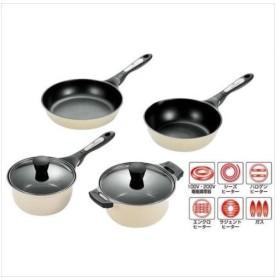タツヤ・カワゴエ キッチンツール4点セット (両手鍋・片手鍋・フライパン・ディープパン) TKC-2500S (APIs)