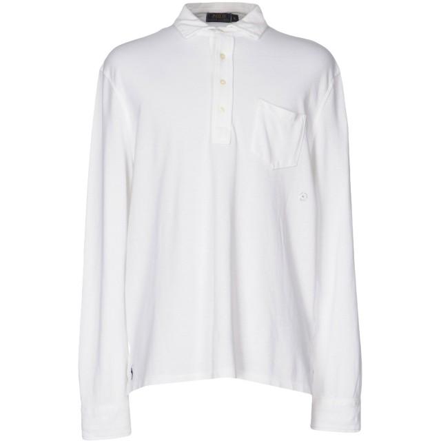 《期間限定セール開催中!》POLO RALPH LAUREN メンズ ポロシャツ ホワイト XL コットン 100%