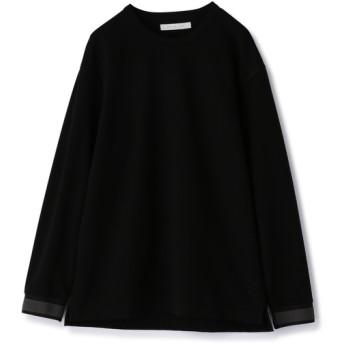 ESTNATION / ポンチロングスリーブTシャツ ブラック/SMALL(エストネーション)◆メンズ Tシャツ/カットソー