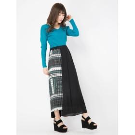 【セシルマクビー/CECIL McBEE】 部分デザインプリーツスカート