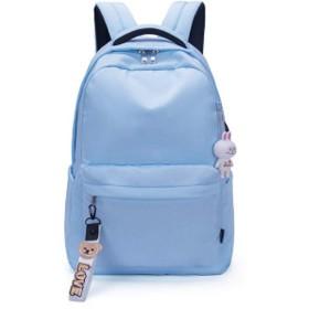 レジャー旅行バックパックファッションバックパックバックパック学生バックパックアウトドアスポーツバックパック防水デニムバックパック-blue