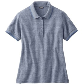レディース 半袖ポロシャツ ブルー系 Eddie Bauer(エディー・バウアー)