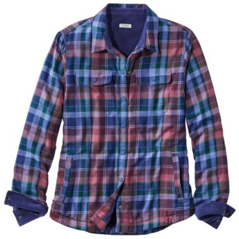 フリースラインド・フランネル・シャツ、スナップフロント プラッド/Fleece-Lined Flannel Shirt, Snap-Front Plaid