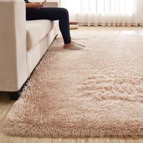 カーペット 120160cm (約1.2畳) ラグマット 洗える 「Moras」 厚い 長方形 絨毯 防音 抗菌 消臭 防ダニ 滑り止め付き 北欧 センターラグ ラクダ