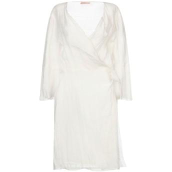 《セール開催中》KRISTINA TI レディース ミニワンピース&ドレス ホワイト 44 麻 100%