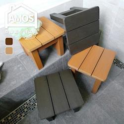 【Amos】大和日式塑木防水防潮浴椅(大)