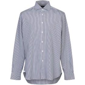 《セール開催中》BARBA Napoli メンズ シャツ ダークブルー 44 コットン 100%