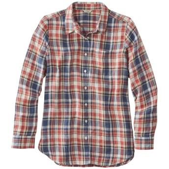 プレミアム・ウォッシャブル・リネン・シャツ、チュニック プラッド/Premium Washable Linen Shirt, Tunic Plaid