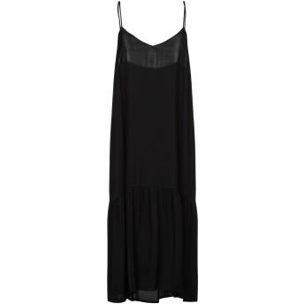 《セール開催中》SEMICOUTURE レディース 7分丈ワンピース・ドレス ブラック 38 レーヨン 100%