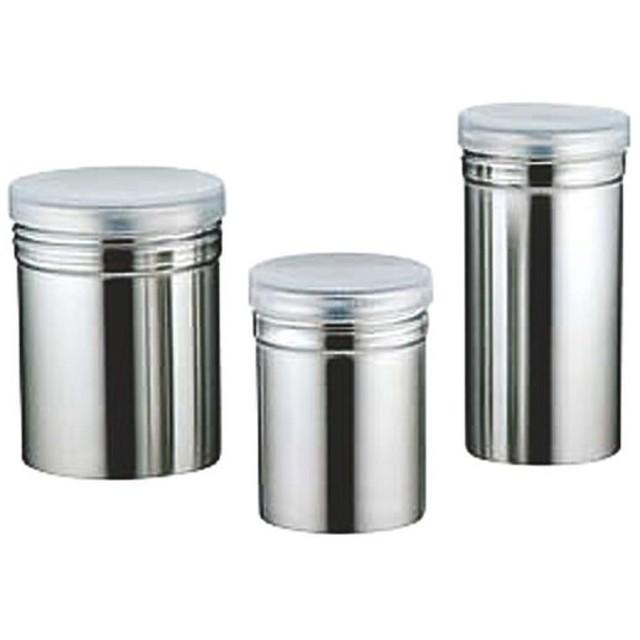 18-8パウダー缶 PP蓋付 小