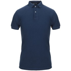 《期間限定セール開催中!》VENGERA メンズ ポロシャツ ダークブルー 46 コットン 100%