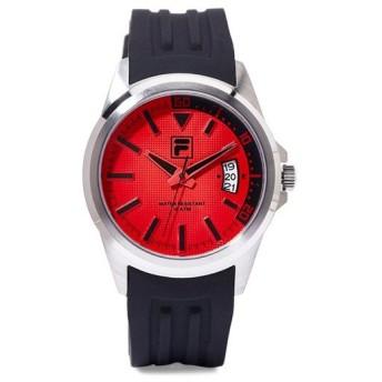 フィラ メンズ レッド ブラック シリコン 赤×黒 38-126-002 あすつく 腕時計