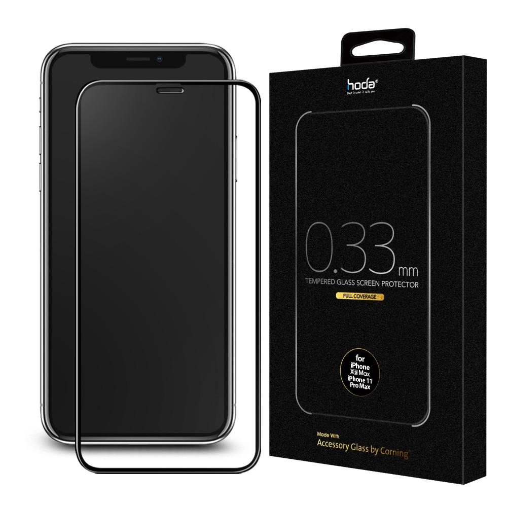 【買一送一】hoda iPhone 11 Pro / X / Xs 5.8吋 美國康寧授權 2.5D隱形滿版玻璃保護貼