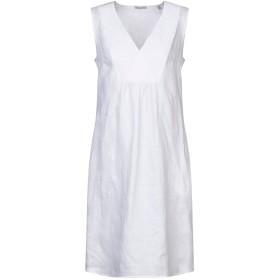 《セール開催中》CAMICETTASNOB レディース ミニワンピース&ドレス ホワイト 42 麻 100%