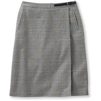 ウィークエンド・フォー・ラップ・スカート、プリンス・オブ・ウェールズ/Weekend Faux Wrap Skirt, Prince of Wales