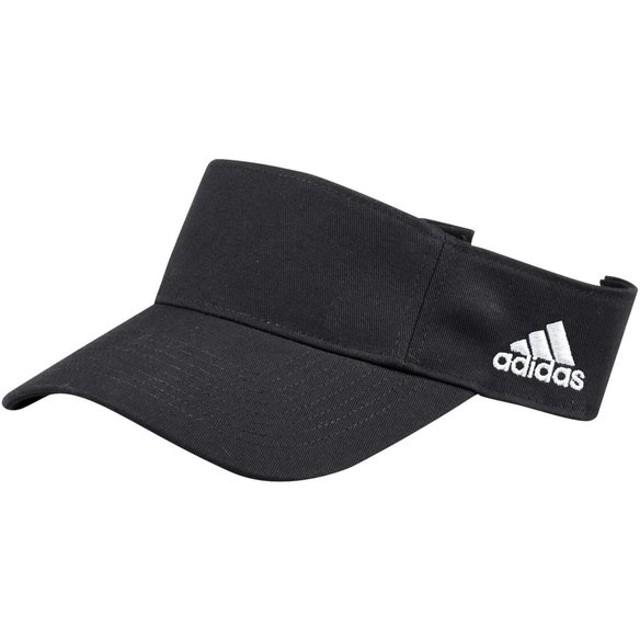 アディダス adidas メンズ サンバイザー 帽子 Team Adjustable Visor Black