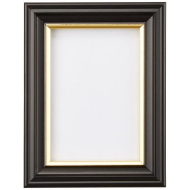 FUJICOLOR 額縁 肖像額 ( 無反射ガラス ) 1/2L 木製 ブラック 68968