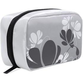 FengJu 化粧ポーチ 大容量 可愛い メイクポーチ コンパクト 機能的 おしゃれ 持ち運び コスメ収納 仕切り ミニポーチ バニティーケース 洗面道具 携帯用 和風 幾何学