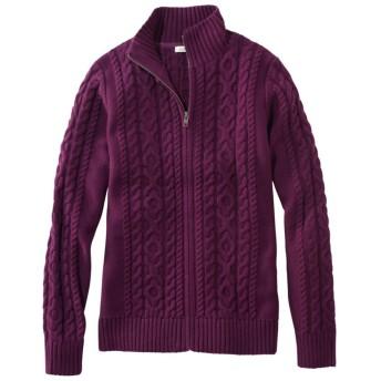 ダブル・エル・ミックス・ケーブル・セーター、ジップ・カーディガン/Double L Mixed-Cable Sweater, Zip-Front Cardigan