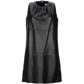 《期間限定セール開催中!》BLUGIRL BLUMARINE レディース ミニワンピース&ドレス ブラック 40 羊革(シープスキン) 100% / ポリエステル / ポリウレタン
