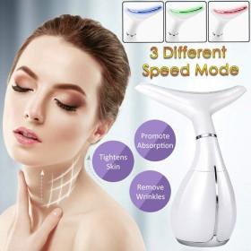 肌の引き締め機、フェイスネックケアマッサージャー、充電式USB、3モードアンチリンクル除去マッサージャー用シワ治療およびダブルチンリデューサー