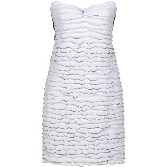 《セール開催中》CRISTINAEFFE レディース ミニワンピース&ドレス ホワイト 44 ポリエステル 100%