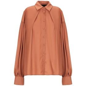 《セール開催中》VANESSA SCOTT レディース シャツ ブラウン S ポリエーテル 100%