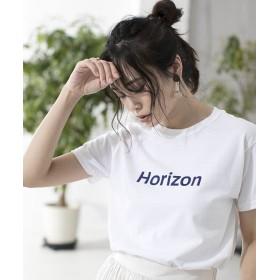 【50%OFF】 アルアバイル HORIZON ロゴT レディース ホワイト 02 【allureville】 【セール開催中】