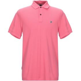 《セール開催中》TOMMY HILFIGER メンズ ポロシャツ ピンク S コットン 100%
