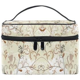 鳥の花化粧品袋オーガナイザージッパー化粧バッグポーチトイレタリーケースガールレディース