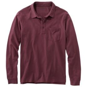 レイクウォッシュ・オーガニック・コットン・ポロシャツ、長袖 ポケット付き/Lakewashed Organic Cotton Polo with Pocket, Long-Sleeve
